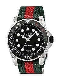 Gucci Swiss Quartz Stainless Steel and Nylon Dress Multi-Color Men's Watch(Model: YA136209)