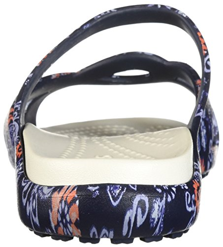 Flat Women floral CrocsMeleen Twist Graphic Navy Sandal 4q3Lj5AR