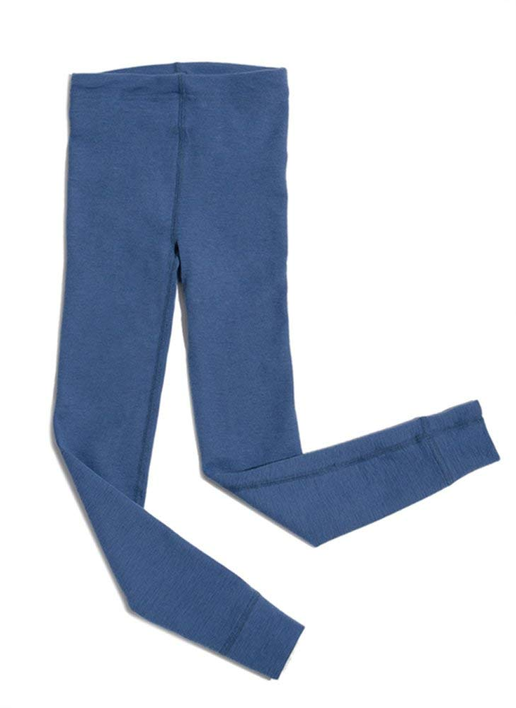 Hocosa of Switzerland Big Kids Organic Wool Long-Underwear Pants, Solid Blue, s. 128/8 yr by Hocosa of Switzerland