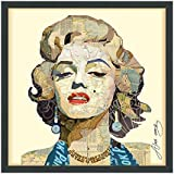 Empire Art Direct Homage to Marilyn Dimensional Collage Handmade by Alex Zeng Framed Graphic Famous Person Wall Art, 25
