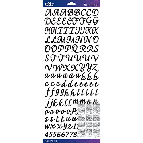 Sticko E5290149 Alphabet Stickers, Black Script