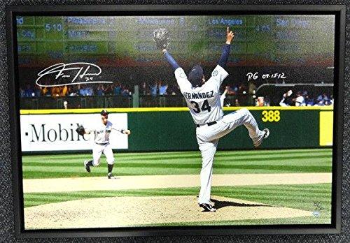 Felix Hernandez Autographed Signed Framed 20x30 Canvas Photo Mariners Mcs 94465 Autographed MLB Art