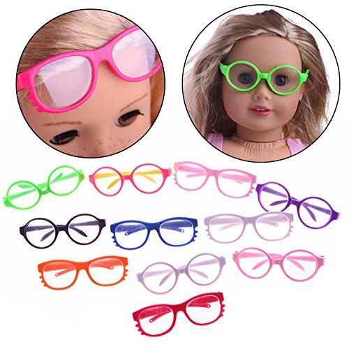 ZHUOTOP Cute Sunglasses Goggles For 18'' American Girl Dolls Costume - Goggles Sun For Girls