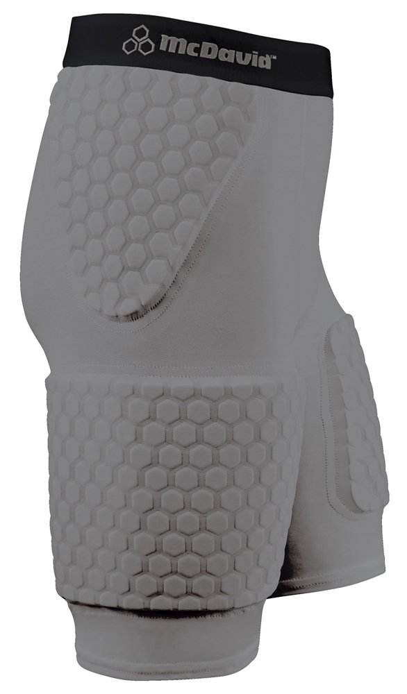 (Small, Gray) - Mcdavid Hexpad Thudd with Extended Thigh