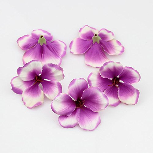 Wedding Paty Home Decoration DIY wreaths spring Silk Orchid Artificial Flower heads Gladiolus Cymbidium Flowers 100pcs/lot (purple) (Cymbidium Orchid Silk Flower)