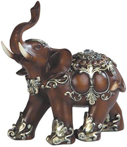 GEORGE S. Chen importen ss-g-88098 Holz wie Design Elefant Thailand Figur, 15,2 cm