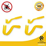 TheWeles Tick Remover | Tick Removal Tool for Dog, Cat and Deer | 4 Pieces Pack Tick Removal Kit with 2 Small and 2 Large Tick Remover Tool | Dog Tick Remover | Remove Ticks from Humans and Pet