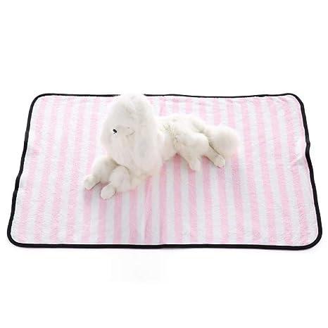 Xinjiener Mantas Blandas para Mascotas Mantas para Dormir térmicas Hechas de poliéster