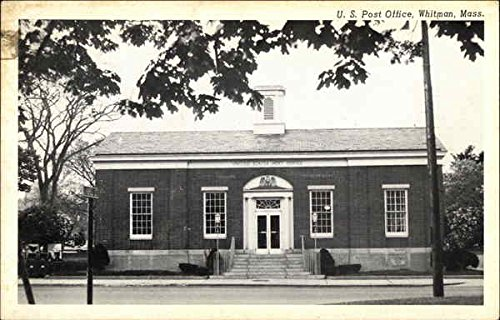 Street View of US Post Office Whitman, Massachusetts Original Vintage Postcard
