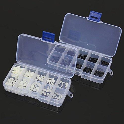 Nylon Screws - Nylon Screw Nut - 150pcs M2 To Round Phillips Pan Head Screw Nut Washer Assortment - Black (M2 Nylon Screws)
