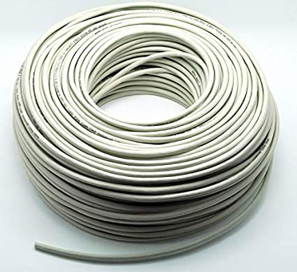 Cable Length: 50m, Color: Grey ShineBear Gigabit Network CAT6 S-FTP Bulk Patch Cable AWG26 Stranded 100/% Copper Wires LSOH//LSZH