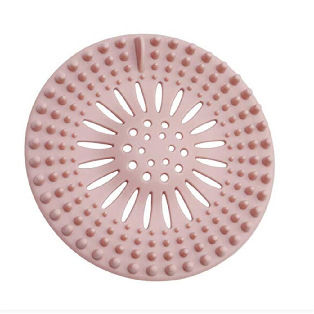 Sevenfly Shower Drain Covers Hair Catcher Silicone Stopper Sink Strainer Filtre Universel en Silicone Drain Cover pour Salle de Bains et Baignoire Rose Cuisine
