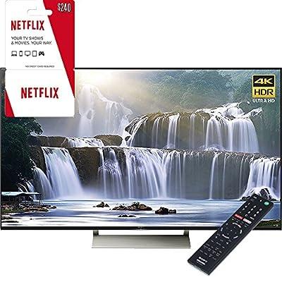 "Sony XBR-65X930E 65"" 4K HDR Ultra HD Smart LED TV 2017 + 2 Year Netflix Subscription"