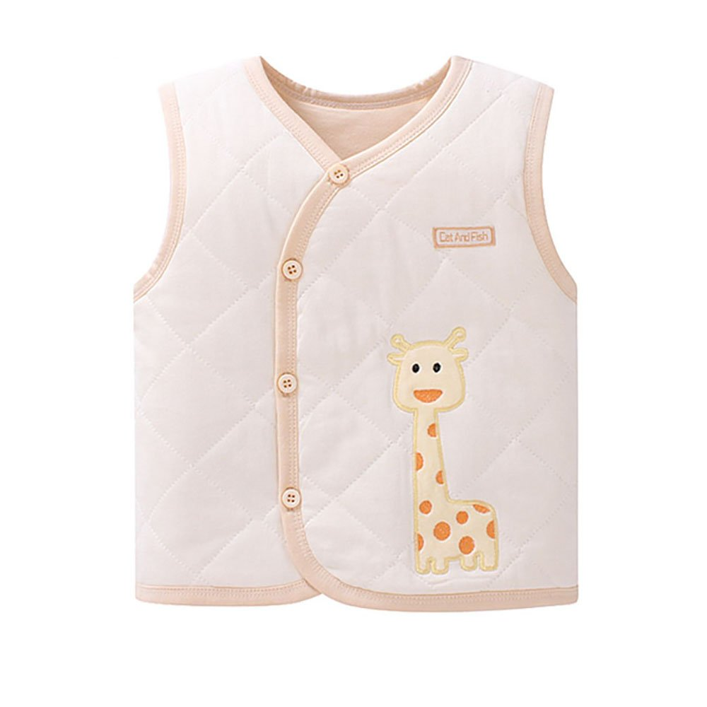 ThreeH Baby Boys Girls Cotton-padded Vest Warm Sleeveless Jacket BR127B H-BR127B