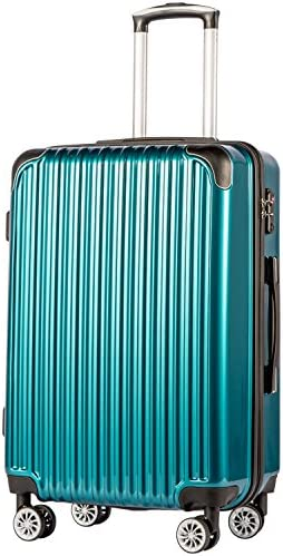 """Coolife Luggage Expandable(simplest 28"""") Suitcase PC+ABS Spinner 20in 24in 28in Carry on (inexperienced new, M(24in))"""