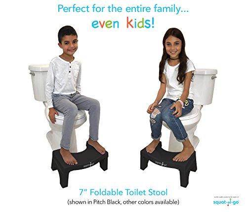 "Squat Toilet Minimalist Bathroom: Squat N Go 7"" Folding Squatting Stool"
