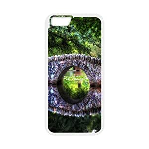 Yearinspace Art bridge in the forest iPhone 6 Plus Cases stone bridge 2 For Women Protective, Iphone 6 Plus Case For Men, {White}