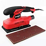 Hi-Spec Heavy Duty 150W 1.3A Random Orbital Finishing Sander with Dust Collector & 10pc Sanding Pad Kit Great for Finishing, Smoothing & Sanding Down Wood, Removing Paint, Varnish, Stains & Polishing