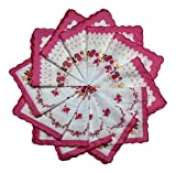 vintage handkerchiefs - Women's Handkerchiefs 12 Pack Cotton Vintage Inspired Floral Designs (12 Bright Pink)