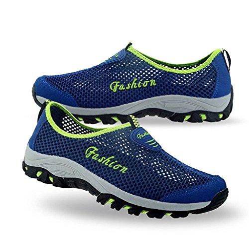 Eagsouni® Unisex-adulto Malla transpirable zapatillas/Zapatillas De Deporte/Zapatos del ocio/Peso ligero Running zapatillas verano Azul