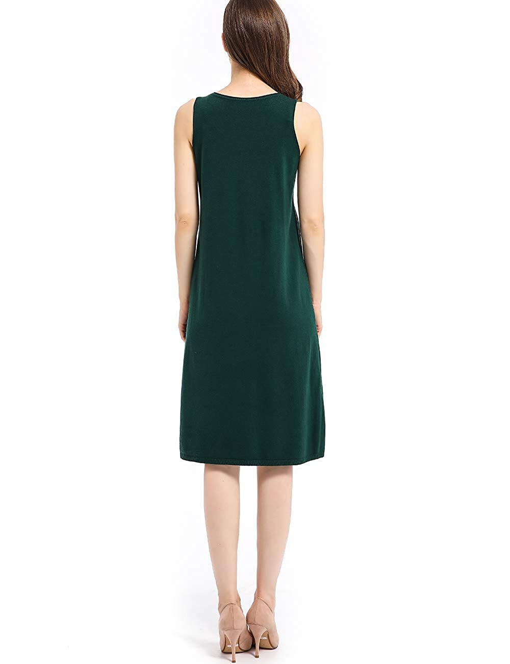 neezeelee Womens Dress Loose Casual Sleeveless Round Neck Comfortable Wool Sweater Vests