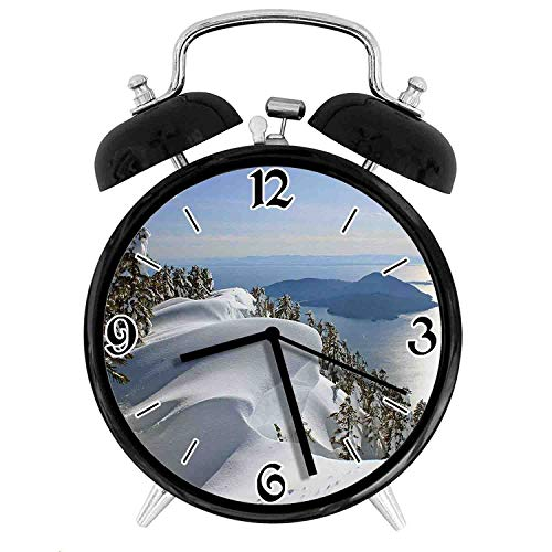 one-six-one Pacific Ocean Meets The Mountains Vancouver British Columbia CanadaDesk Clock Home Office Unique Decorative Alarm Ring Clock 4in ()