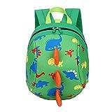 Myonly Kids Toddler 3D Cartoon Dinosaur Backpack, Preschool Cute Bag Anti-Lost bagpack