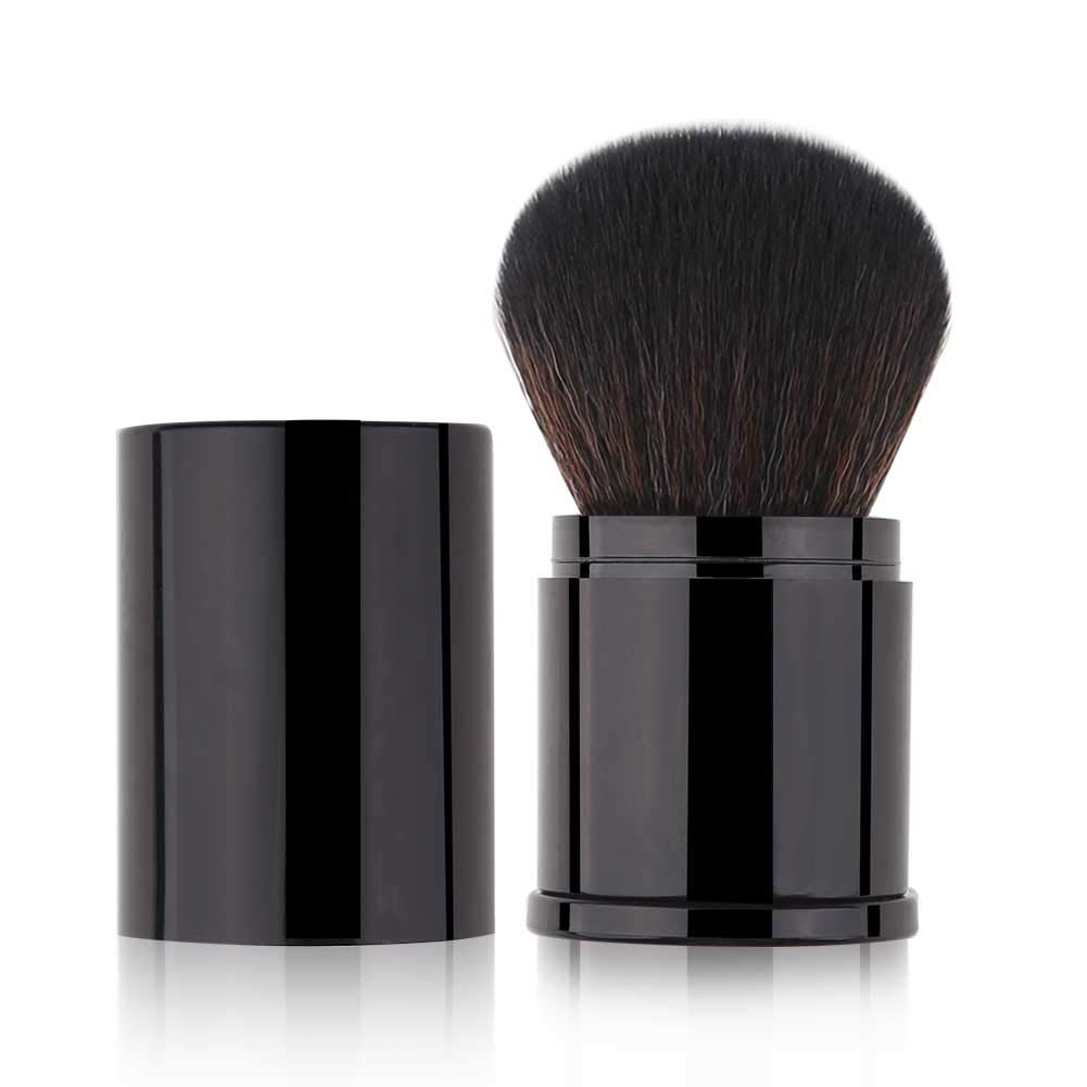 Retractable Kabuki Makeup Brush Powder Brushes Foundation Travel Foundation Brush for Blush Bronzer & Powder: Beauty