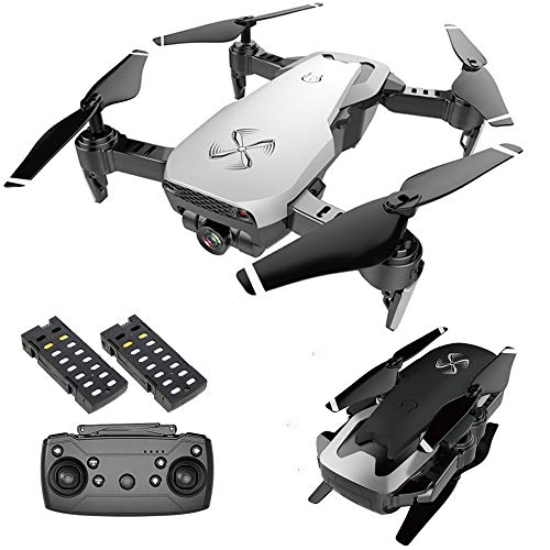 Drone X Pro AIR 1080P HD Dual Camera Quadcopter with Follow Me Real-Time Transmission Gesture Control Optical Flow Positioning and 2pcs Batteries Included (White)