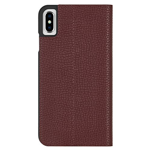 Case-Mate - iPhone XS Wallet Folio Case - BARELY THERE FOLIO - iPhone 5.8 - Butterscotch Folio