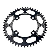 DECKAS Narrow Wide Tooth Chainring Bicycle 40T 42T 44T 46T 48T 50T 52T Chainring 104mm BCD Oval or Round CNC Machined Alloy Fits 8 to 12 Speed Chains (Black Round, 50T) (Tamaño: 50T)