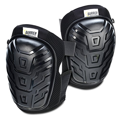 Barrier Protective Gear Premium Knee Pads with Gel Cushioning, Heavy Duty Breathable Padding, Lightweight Comfort, and Adjustable Straps