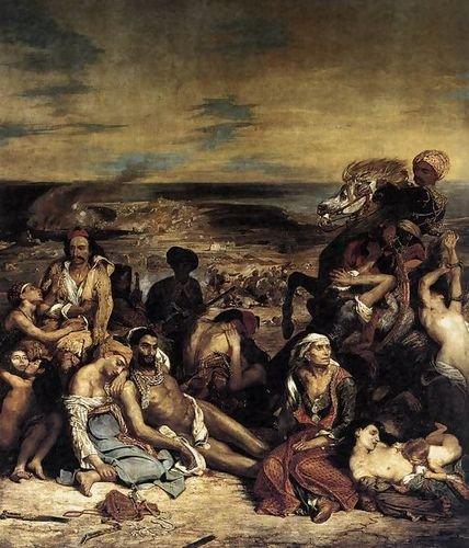 Eugene Delacroix The Massacre at Chios (1) 1824 72x86 [Kitchen] (The Massacre At Chios By Eugene Delacroix)
