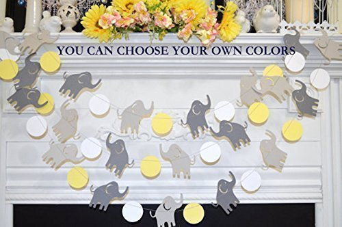 Amazon Com Elephant Baby Shower Garland Elephant Decor Elephant