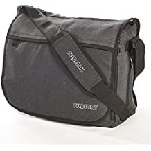 Filberry Messenger DIAPER BAG for DADS & MOMS to share baby care! - Top zipper for easy access - Large - Grey/Black – MEN love it!