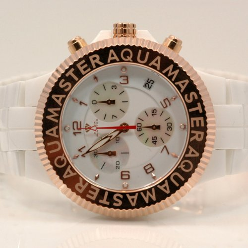 Aqua Master Mens Ceramic Quartz Watch W330 by Aqua Master