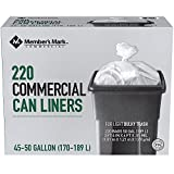 New 22 Garbage Bags Trash Can Liners Clear Frosted 55 Gallon Large