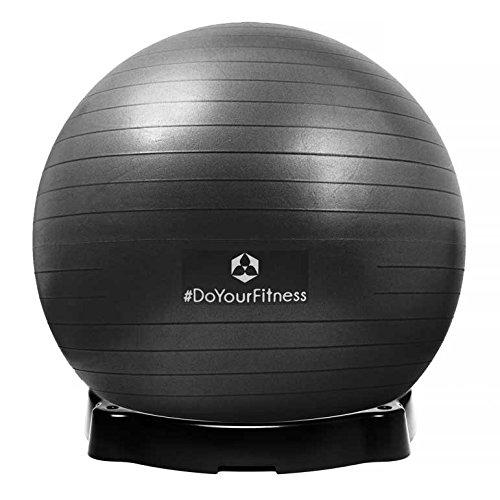 Gymnastikball »Orion« inklusive Ballschale / Robuster Sitzball und Fitnessball / 65 cm / schwarz inklusive Sitzschale