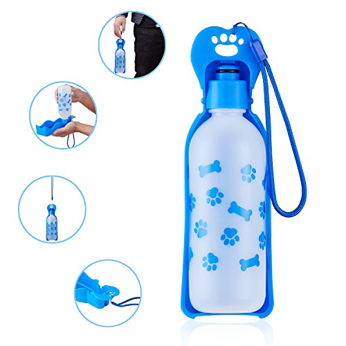 ANPETBEST Travel Water Bottle 650ML / 22oz Water Dispenser Portable Mug for Dogs,Cats and Other Small Animals (Blue-650ML) by ANPETBEST (Image #4)