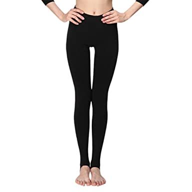 b0fd3a73d28d01 INCHER Fleece Leggings, Stirrup Leggings,Warm Fleece Lined Tights Thermal  Winter Pantyhose Tights - Black - S: Amazon.co.uk: Clothing