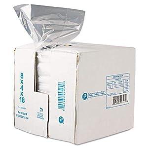 Inteplast Group PB080418R Get Reddi Food & Poly Bag, 8 x 4 x 18, 8-Quart, 0.68 Mil, Clear (Case of 1000)