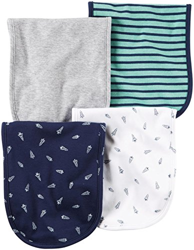 Carter's Baby Boys Burp Cloths 126g546, Navy, One Size Baby