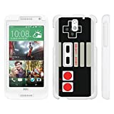 MINITURTLE Case Compatible w/ HTC Desire 610 , Slim Sleek Plastic Case Hard + Screen Protector + White Game Controller