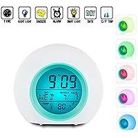 Vekey Alarm Kids Wake Up Light Clock Premium Digital Display Model, One Size, White