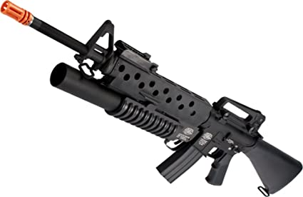 amazon com evike g p scar face m16a3 m16 vn airsoft aeg rifle w