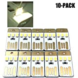 INVESCH 10 Pack USB Powered LED Night Light Portable Keychain USB Camping Light
