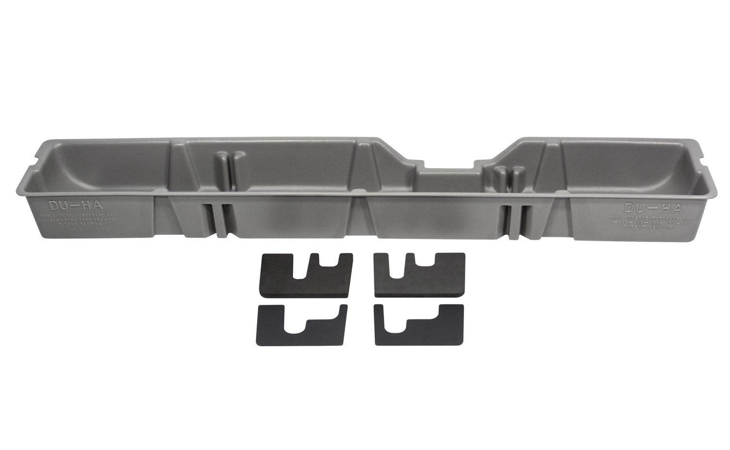 DU-HA Under Seat Storage Fits 09-10 Ford F-250 thru F-550 Super Duty Supercab, Gray, Part #20082 by DU-HA