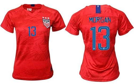 a30d3b749 LISIMKE Soccer Team USA National Away Alex Morgan 13 Womens Replica Jersey Jersey Shorts  Kid
