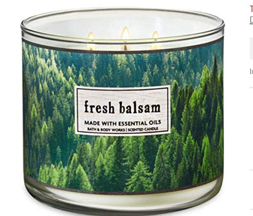 Bath & Body Works, 3-Wick Candle, Fresh Balsam - Holiday 3 Wick Candle