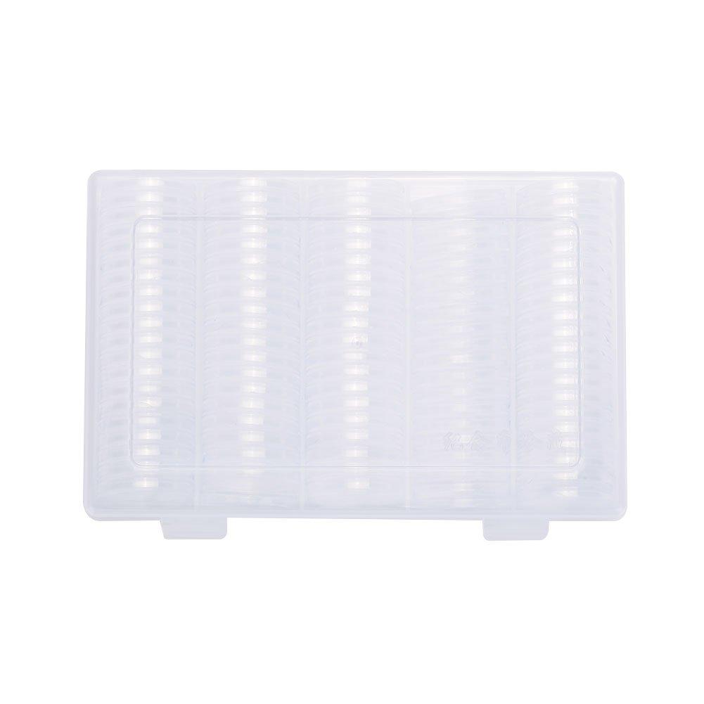 TOPmountain 100 Certified Coin Transparent Plastic Storage Display Box